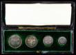 London Coins : A170 : Lot 1899 : Maundy Set 1903 ESC 2519, Bull 3609 EF toned, once cleaned, in the long dated box