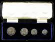London Coins : A170 : Lot 1902 : Maundy Set 1905 ESC 2521, Bull 3611 NEF to EF once lightly cleaned, in a long dated box