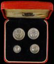 London Coins : A170 : Lot 1908 : Maundy Set 1950 ESC 2567, Bull 4319 EF to UNC with an attractive matching tone, the Fourpence with s...