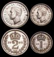 London Coins : A170 : Lot 1909 : Maundy Set 1950 ESC 2567, Bull 4319 lightly toned nFDC some coins having small stains