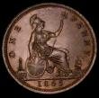 London Coins : A170 : Lot 1939 : Penny 1865 Freeman 50 dies 6+G NEF/EF with a faint trace of a tone line on the obverse