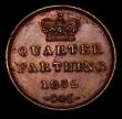London Coins : A170 : Lot 1952 : Quarter Farthing 1852 Peck 1610 NEF the obverse with a hint of lustre
