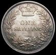 London Coins : A170 : Lot 2011 : Shilling 1877 ESC 1329, Bull 3047, Die Number 44, Lustrous UNC with an attractive and even cinnamon ...