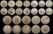 London Coins : A170 : Lot 2572 : A retired dealers ex-retail stock (24) 19th and 20th Century a varied group mostly Crown and Halfcro...