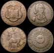 London Coins : A170 : Lot 310 : Halfpennies 18th Century (4) Gloucestershire - Newent 1796 Industry Leads to Honour DH64 Good Fine. ...