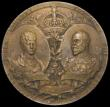 London Coins : A170 : Lot 357 : Coronation of Edward VII 1902 51mm diameter in bronze by Mappin & Webb, Obverse: ALEXANDRA QUEEN...