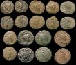 London Coins : A170 : Lot 432 : Roman Ae Antoninianii (16) a varied group includes Claudius II (4), Gallienus (2), Salonina (2), Pos...