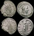 London Coins : A170 : Lot 439 : Roman Ar Antoninianii (3) Saloninus (257-258AD) Rome. Obverse: Bust right, radiate and draped, LIC C...