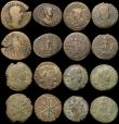 London Coins : A170 : Lot 443 : Roman bronzes 2nd and 3rd Century AD Sestertius to Ae21 (15) a mix of emperors Fair to VF