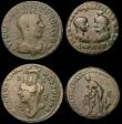 London Coins : A170 : Lot 450 : Roman Provincial (4) Ae26 Philip II and Serapis, Marcianopolis, Moesia Inferior, (247-249AD) Magistr...