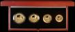 London Coins : A170 : Lot 465 : Britannia Gold Proof Set 2005 the 4-coin set comprising £100 One Ounce, £50 Half Ounce, £25 Quart...