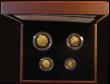 London Coins : A170 : Lot 466 : Britannia Gold Proof Set 2010 the four-coin set comprising £100 2010 Gold One Ounce, £50...