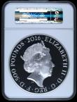 London Coins : A170 : Lot 500 : Five Hundred Pounds 2016 Queen Elizabeth II 90th Birthday 1 Kilo of Silver S.R6 Proof in an oversize...