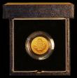 London Coins : A170 : Lot 563 : Half Sovereign 1989 500th Anniversary of the First Gold Sovereign S.SB3 one very thin hairline scrat...