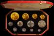 London Coins : A170 : Lot 600 : Proof Set 1911 Long Gold Set (12 coins) comprising Five Pounds, Two Pounds, Sovereign, Half Sovereig...