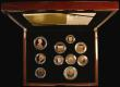 London Coins : A170 : Lot 617 : Proof Set 2012 The United Kingdom Diamond Jubilee Gold Proof Coin Set, 10-coin set with all coins in...