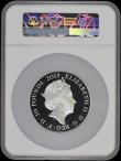London Coins : A170 : Lot 698 : Ten Pounds 2019 The Tower of London - Legend of the Ravens 5oz. Silver Proof S.M12 in a large NGC ho...