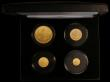 London Coins : A170 : Lot 745 : Alderney 2018 Centenary of End of World War Once Gold Matt Proof Sovereign Collection 4 coin set Dou...