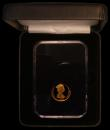 London Coins : A170 : Lot 803 : Gibraltar One Pound Gold 2015 St. George and The Dragon Gold Proof FDC boxed, in the slab-style hold...