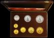 London Coins : A170 : Lot 850 : Ras Al-Khaima Proof Set 1970 Centenary of Rome as Capital of Italy an 8-coin Gold and Silver Set com...