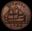 London Coins : A170 : Lot 936 : Bermuda Penny 1793 Double Pennant to central flag KM#5 About Fine/Good Fine with some scratches in t...