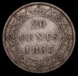 London Coins : A170 : Lot 948 : Canada - Newfoundland 20 Cents 1865 KM#4 About Fine