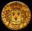 London Coins : A170 : Lot 998 : France 20 Francs Gold 1815A First Restoration, Louis XVIII, Paris Mint KM#706.1 EF/NEF the reverse w...