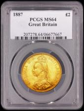 Two Pounds 1887 PCGS MS63