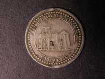 London Coins : A122 : Lot 1018 : Shilling 1811 (date not visible) Sussex Davis 15 Shoreham Obverse NVF, the reverse smoothed so v...