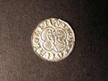 London Coins : A122 : Lot 1260 : Penny Cnut Quatrefoil type S.1157 Long Cross North 796 NEF Rare