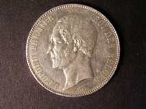 London Coins : A122 : Lot 1334 : Belgium 5 Francs medallic issue 1853 KMM8.2  bright EF.