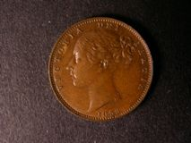 London Coins : A122 : Lot 1528 : Farthing 1853 3 over 2 surprisingly unlisted by Peck NEF with traces of lustre