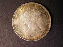 London Coins : A122 : Lot 1547 : Florin 1867 ESC 830 Die Number 5 Near EF with attractive gold tone and underlying lustre