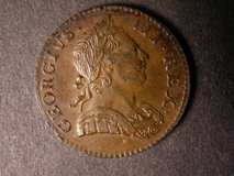 London Coins : A122 : Lot 1671 : Halfpenny 1770 Peck 893 EF with some signs of die rust on the obverse