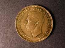 London Coins : A122 : Lot 1699 : Halfpenny 1942 reported as a Proof rim and fields certainly proof-like and sharp and lustrous UNC pr...