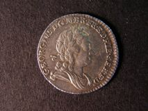 London Coins : A122 : Lot 1810 : Sixpence 1723 SSC ESC 1600 Small Lettering on Obverse GVF