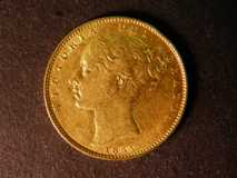 London Coins : A122 : Lot 1849 : Sovereign 1855 Marsh 38 GF