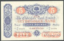 London Coins : A122 : Lot 516 : Scotland Clydesdale Bank £5 dated 13th January 1943 serial No.Z2/K 0003282, Pick186, p...