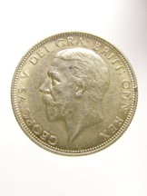 London Coins : A124 : Lot 2066 : Florin 1932 ESC 952 About EF with a spot on the hairline, Rare