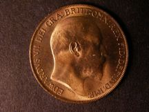 London Coins : A124 : Lot 2213 : Penny 1910 Freeman 170 dies 2+E UNC with almost full lustre and a few light contact marks