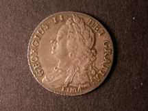 London Coins : A124 : Lot 2231 : Shilling 1745 LIMA ESC 1204 EF and pleasantly toned