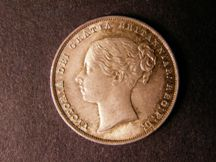 London Coins : A124 : Lot 2236 : Shilling 1856 ESC 1304 UNC nicely toned with the slightest cabinet friction
