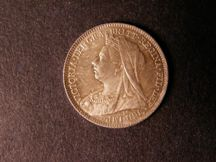 London Coins : A124 : Lot 2252 : Sixpence 1900 ESC 1770 UNC nicely toned