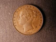 London Coins : A124 : Lot 255 : Farthing 1839 Copper Proof with reverse inverted Peck 1557 nFDC with a few small spots
