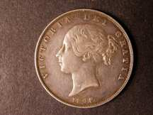 London Coins : A124 : Lot 435 : Halfcrown 1848 8 over 6 ESC 681A VF/GVF Rare