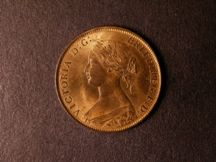 London Coins : A124 : Lot 553 : Halfpenny 1861 Freeman 282 dies 7+G UNC with good lustre