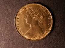 London Coins : A124 : Lot 566 : Halfpenny 1867 Freeman 300 dies 7+G UNC with considerable lustre, some toning on the bust