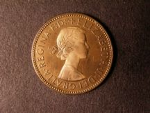 London Coins : A124 : Lot 628 : Halfpenny 1957 Bronze Proof Freeman 478 dies 3+E nFDC with almost full lustre