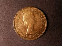 London Coins : A124 : Lot 629 : Halfpenny 1958 Bronze Proof Freeman 482 dies 3+G nFDC with some toning