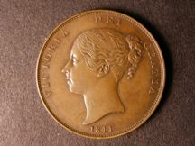 London Coins : A124 : Lot 640 : Penny 1841 Copper Proof with no Colon after REG, unrecorded as such by Peck (he recorded only th...